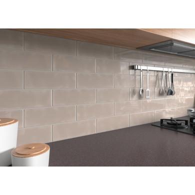 MS International Backsplash Series: Urbano Warm Concrete 4x12 Glossy Ceramic Subway Tile NURBWARCON4X12