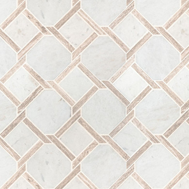 MS International Specialty Shapes Wall Series: Marbella Lynx 12x12 Polished Pattern Marble Mosaic Tile SMOT-MARBLYNX-POL10MM