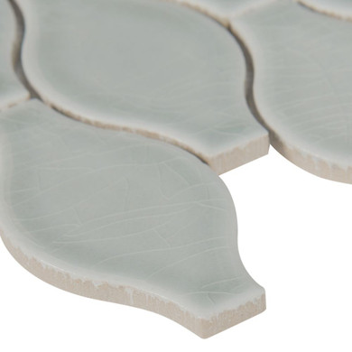 MS International Specialty Shapes Wall Series: Morning Fog Ogee Pattern 12X12 Glossy Tile SMOT-PT-MOFOG-OGEE