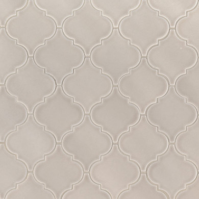 MS International Specialty Shapes Wall Series: Portico Pearl Arabesque Glossy Ceramic Tile SMOT-PT-PORPEA-ARABESQ