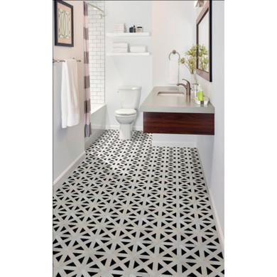 MS International Specialty Shapes Wall Series: Retro Fretwork 12x12 Polished Marble Tile SMOT-RETFRET-POL10MM