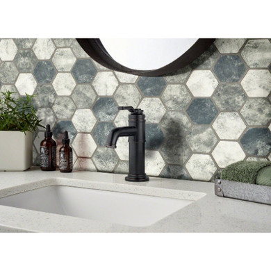 MS International Specialty Shapes Wall Series: Urban Tapestry 6mm Hexagon Tile SMOT-GLS-UT6MM
