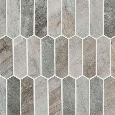 MS International Glass Tile Series: Stonella Picket 6mm Recycled Glass Mosaic Tile SMOT-GLSPK-STNELA6MM