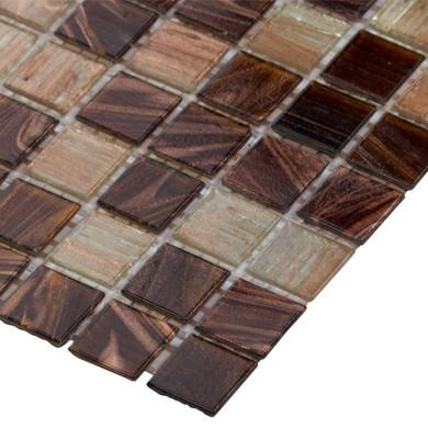 MS International Glass Tile Series: Treasure Trail Iridescent 3/4x3/4x4MM Mosaic Tile THDWG-IR-TT-4MM