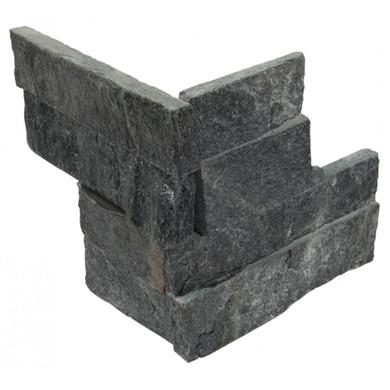 MS International Stacked Stone M-Series: Coal Canyon 4.5x9 Split Face Mini Corner Ledger Panel LPNLQCOACAN4.59COR-MINI