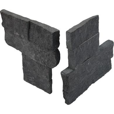MS International Stacked Stone Series: Coal Canyon 4.5x9 Split Face Mini Corner Ledger Panel LPNLQCOACAN4.59COR-MINI