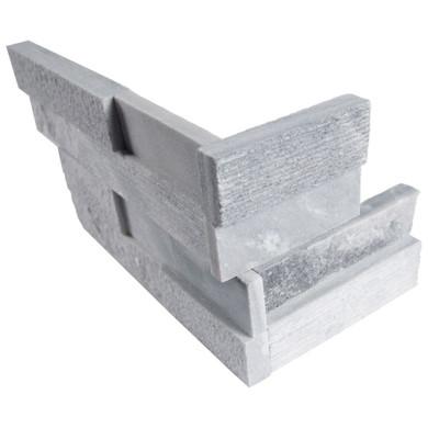 MS International Stacked Stone Series: Alaska Gray 6x12x6 Multi Finish Corner Ledger Panel LPNLMALAGRY618COR-MULTI