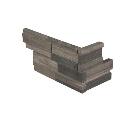 MS International Stacked Stone Series: Brown Wave 6x12x6 3D Honed Corner Ledger Panel LPNLDBROWAV618COR-3DH