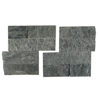 MS International Stacked Stone Series: Sedona Platinum 6X6 Split Face Corner Ledger Panel LPNLQSEDPLA66COR