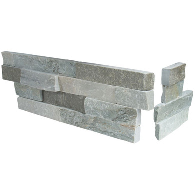 MS International Stacked Stone Series: Sierra Blue 6X12X6 Split Face Corner Ledger Panel LPNLQSIEBLU618COR
