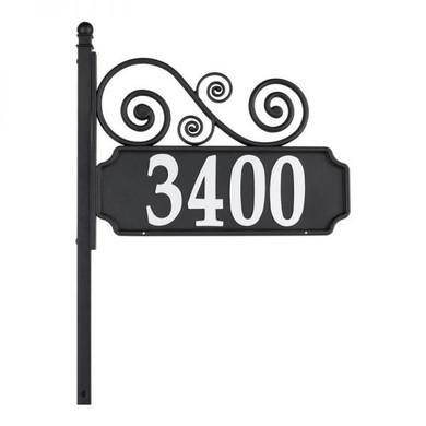 Whitehall Nite Bright Scroll Reflective Address Post Sign