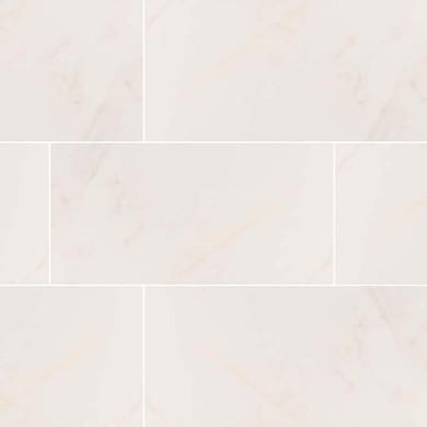 MS International Adella Series: 12x24 Calacatta Satin Matte Finish White Ceramic Wall Tile NADECAL1224