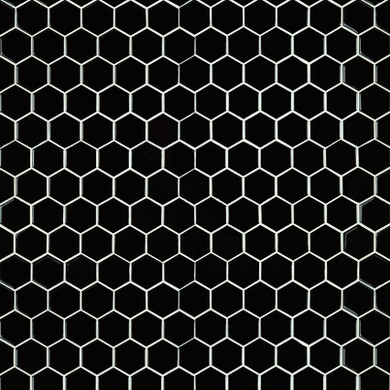 "MS International Porcelain Series: 2"" Black Hexagon Glossy Wall Tile SMOT-PT-RETNERO-2HEXG"
