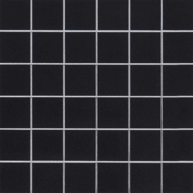 MS International Porcelain Series: 2x2 Domino Black Polished Wall Tile SMOT-PT-RETNERO-2X2G