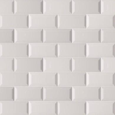 MS International Ceramic Series: 3x6 Gray Glossy Subway Beveled Wall Tile NGRAGLO3X6BEV-N