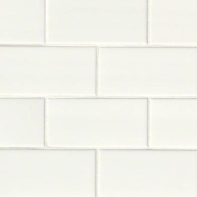 MS International Ceramic Series: 3x6 White Subway Glossy Wall Tile NWHIGLO3X6-N