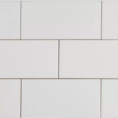 MS International Ceramic Series: 4x12 White Glossy Glazed Wall Tile NWHIGLO4X12-N