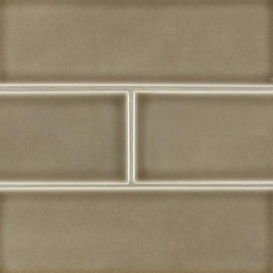 MS International Ceramic Series: 4x12 Artisan Taupe Subway Wall Tile SMOT-PT-ARTA412