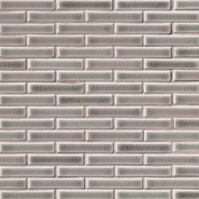 MS International Ceramic Series: 8mm Dove Gray Brick Pattern Wall Tile SMOT-PT-DG-BRK