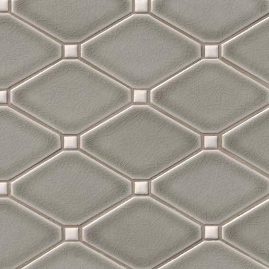 MS International Ceramic Series: 8mm Dove Gray Diamond Wall Tile SMOT-PT-DG-DIAMOND