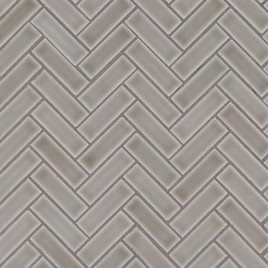 MS International Ceramic Series: 8mm Dove Gray Herringbone Pattern Wall Tile SMOT-PT-DG-HB