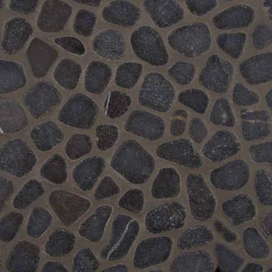 MS International Marble Series: 10mm Black Marble Pebble Tumbled Pattern Wall Tile SMOT-PEB-BLK