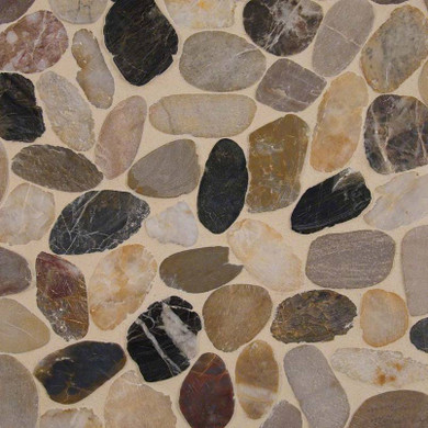 MS International Quartz Series: 10mm Mix River Pebble Pattern Wall Tile SMOT-PEB-MIXRVR