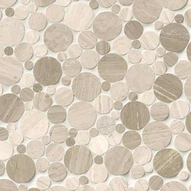 MS International Marble Series: Rio Lago Serenity Polished Rounded Pebble Wall Tile SMOT-SERENITY-PEB10MM