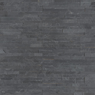MS International Stacked Stone M-Series: Premium Black 4.5x16 Split Face Mini Ledger Panel LPNLSPREBLK4.516-MINI