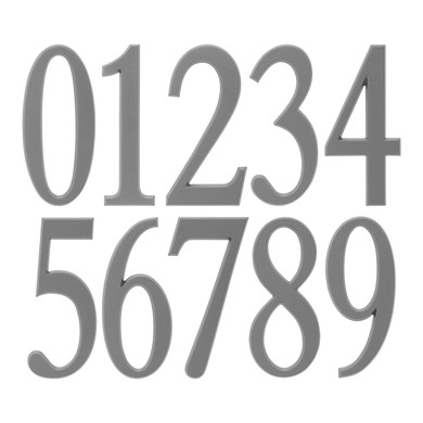 5 Inch Silver Adhesive House Numbers