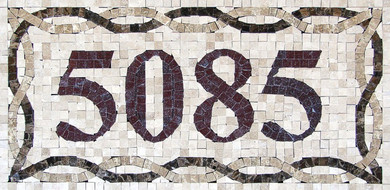 Mosaic House Numbers / Venice – H1