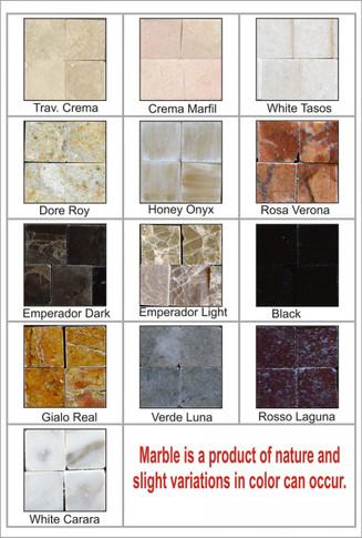 Custom Marble Mosaic House Numbers Colors,