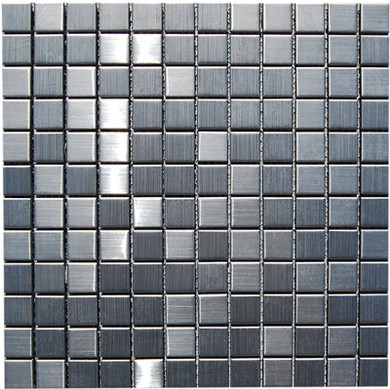 """Stainless-Steel-Mosaic-backsplash-tile-kitchens-Wall. Product - ML100 M Stainless Steel 7/8"""" x 7/8"""""""