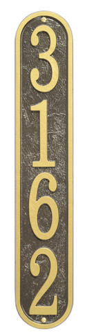 Ships in 4 Days Vertical House Numbers Plaque