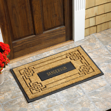 Personalized Coir Knot Rectangle Doormat