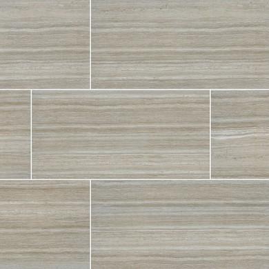 MS International Essentials Series: Charisma Silver 12X24 Matte Ceramic Tile NCHASIL1224