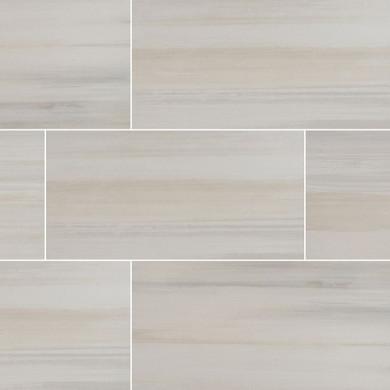MS International Watercolor Series: Bianco 12x24 Matte Porcelain Tile NWATBIA1224
