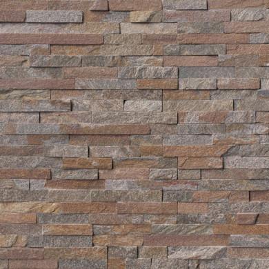 MS International Stacked Stone Series: Amber Falls 6x24 Split Face Ledger Panel LPNLQAMBFAL624