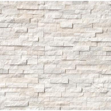 MS International Stacked Stone Series: Arctic White 6x24 Split Face Ledger Panel LPNLQARCWHI624