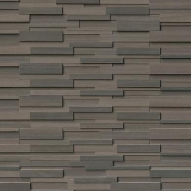 MS International Stacked Stone Series: Brown Wave 6x24 3D Honed Ledger Panel LPNLDBROWAV624-3DH