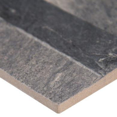 MS International Stacked Stone Series: Ardesia Black 6X24 Matte Ledger Panel NARDBLK6X24