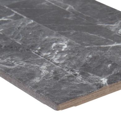 MS International Stacked Stone Series: Midnight Mount 6X24 Matte Porcelain Ledger Panel NMIDMOU6X24