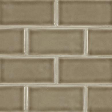 MS International Backsplash Series: Artisan Taupe Handcrafted 3x6 Glossy Subway Tile SMOT-PT-ARTA36