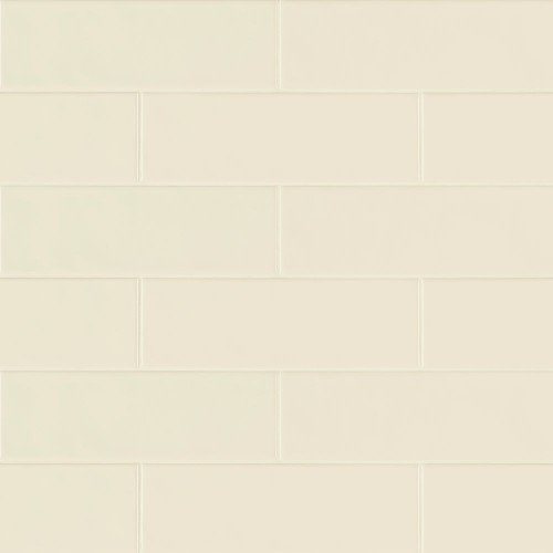 MS International Backsplash Series: Urbano Crema 4x12 Glossy Ceramic Subway Tile NURBCRE4X12