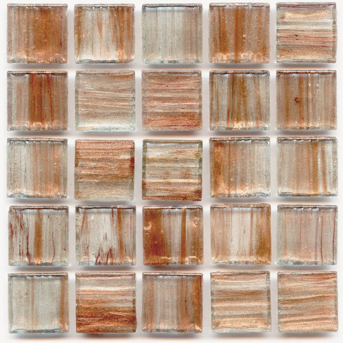 Honey 0.75 x 0.75 Glass Mosaic Tile
