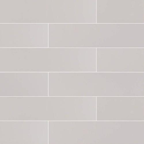 MS International Backsplash Series: Domino Gray Glossy 4x16 Subway Tile NGRAGLO4X16