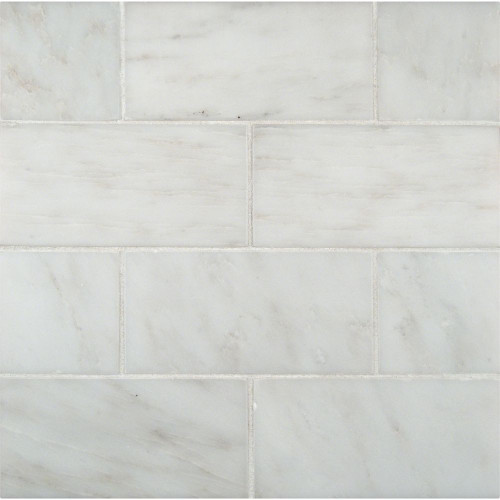 MS International Backsplash Series: Arabescato Carrara 3X6 Polished Subway THDW1-T-GRE-3X6