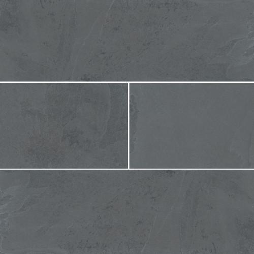 MS International Backsplash Series: Montauk Black 4x12 Gauged Subway Tile SMONBLK412G