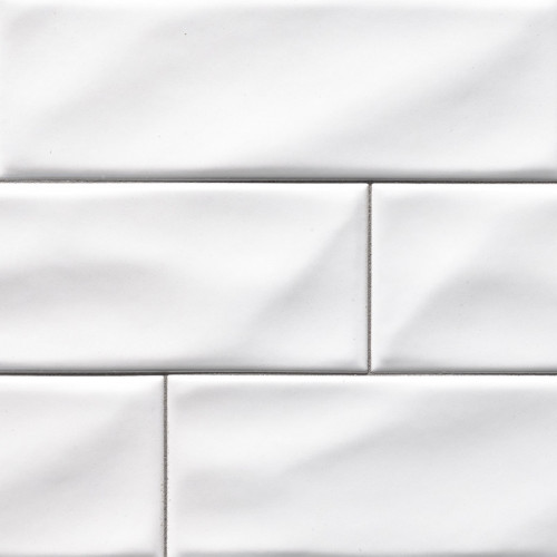 MS International Backsplash Series: Whisper White 4x12 Handcrafted Glossy Subway Tile SMOT-PT-WW412
