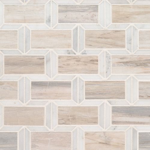 MS International Specialty Shapes Series: Angora Framework 12X12 Polished Mosaic Wall Tile SMOT-ANGORA-FRM10MM